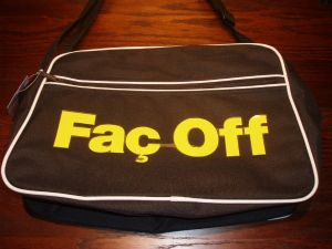 RETRO 70`S STYLE MADCHESTER HACIENDA `FAC OFF` SPORTS BAG